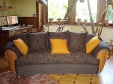Rénovation d'un canapé en haricot