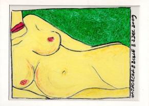 Pastel gras sur carton